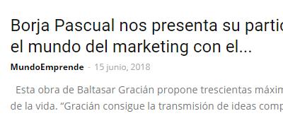 """El """"GuíaBurros: Arte de la prudencia"""" en Mundo Emprende."""